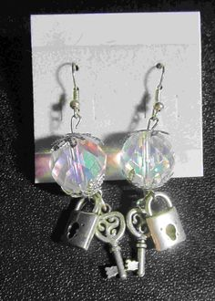 Clear Earrings with charms