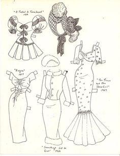Marilyn Monroe paper doll clothes / marlendy.wordpress.blogspot.com