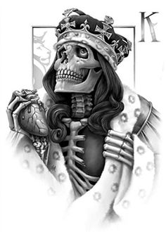 Want ink but can't make the commitment? Browse temporary tattoos for adults at Inked Shop! We carry a variety of unique adult and kids' temporary tattoos. Skull Couple Tattoo, Skull Tattoos, Couple Tattoos, Tatoos, Card Tattoo Designs, Sketch Tattoo Design, Playing Card Tattoos, Playing Cards Art, Og Abel Art
