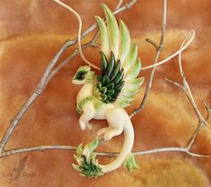 Spring dragon necklace by AlviaAlcedo on deviantART