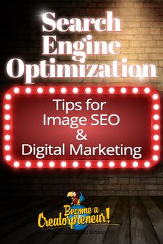 Follow these search engine optimization tips when designing and posting your images. Improve your digital marketing efforts and get more traffic with simple steps for image SEO. #searchengineoptimization #searchengineoptimizationtips #imagedesign #digitalmarketing #seo #seotips #graphicdesign Seo Marketing, Digital Marketing Strategy, Business Marketing, Content Marketing, Internet Marketing, Affiliate Marketing, Media Marketing, Seo Guide, Seo Tips