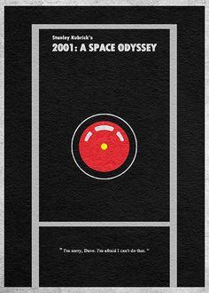2001: A Space Odyssey Minimalist Alternative by CelluloidJunkie