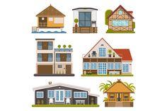 Rent House Set. Apartments, bungalow by @Graphicsauthor