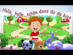 Hallo, hallo, schön, dass du da bist   Begrüßungslied Kindergarten   Kinderliedjes in het Duits - YouTube