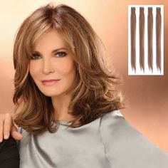 images of jacqueline smith | Jaclyn Smith Extensions : 14 4 pc Clip In Filler (#A4551)