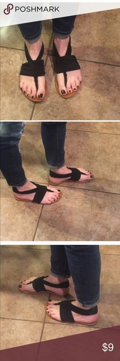 Cute stretchy sandals Cute stretchy sandals! Good condition! Rock candy Shoes Sandals
