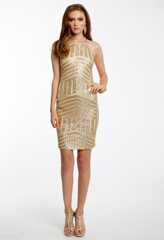 SEQUIN HALTER DRESS #shortdress #dresses #fashion #camillelavie #groupusa