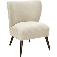 Corrigan Studio Payton Curved Side Chair Color: Antique White
