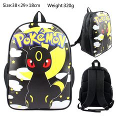 Pokemon Go Backpack For School Umbreon Back to School Bag Shoulder Daypack  Kids 154a3eb6ee1a7