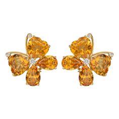 Bielka Citrine Butterfly Earrings