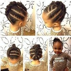 cornrow hairstyle for little black girls by andrea