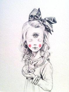 Cyclope Girl - original drawing