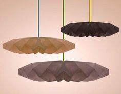 Arquitectura • Diseño: Lámparas ecológicas con Origami. Estudio Tüllman