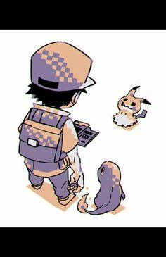 Red, Pokémon Trainer, Charmander, Pokédex, Mimikyu, Pokeball; Pokémon