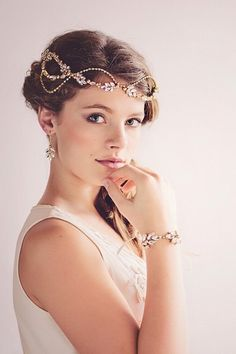 Romantic Vintage Inspired Bridal Headpieces ♥  The Dasiy couture vintage headpiece from Gade Gaard Design is inspired by the opulence of The Great Gatsby. (Photo: Tina Liv ) If you're planning a Gatsby style soiree, you'll love this