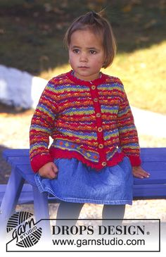 Sweater in Safran with stripes  Free pattern by DROPS Design.