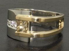 Custom Made Diamond Ring - interesting #rings