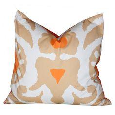 Dana Gibson Ikat Pillow- Khaki