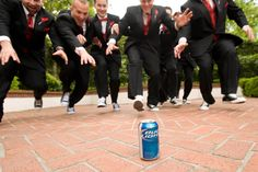 fun groomsmen shot from true love photo on rock and roll bride