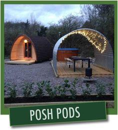 Posh Glamping Pods at Gorsebank Camping Village, Dalbeattie, south-west Scotland