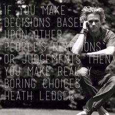Make your own choices
