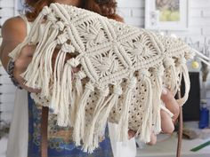 Excited to share this item from my shop: Macrame Clutch Bag,Fringed Clutch Bag, Wedding Clutch, Bride Bridesmaid. Boho Crochet, Cotton Crochet, Macrame Bag, Micro Macrame, Lace Doilies, Crochet Doilies, Wedding Coasters, Wedding Placemat, Crochet One Piece