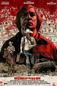 No Country For Old Men (2007) Best Movie Posters, Classic Movie Posters, Cinema Posters, Movie Poster Art, Classic Films, Poster Wall, Old Film Posters, Poster Layout, Vintage Movies