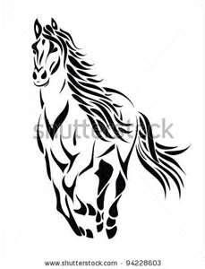 Horse tattoo!!! Really like this one!!!