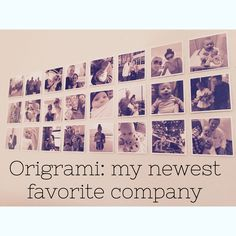 Origrami My Newest Favorite Company | A Lovely Flock Photo wall