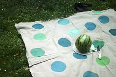 DIY painted picnic blanket