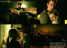 """Veronica Mars and Logan Echolls ...such a poetic teenage angry/happy love ... in my mind I pretend the series ended with them together  """"Veronica: Look at you, all helpful.   Logan: Hey, your peskiness being unleashed on Conner brings me joy. Annoy, tiny blonde one, annoy like the wind!"""""""