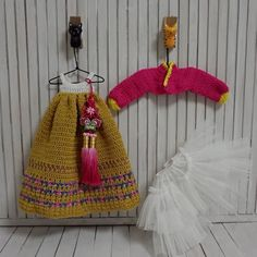 Blythe Doll Outfit Knitted Clothes Korean Dress HANBOK Dark Yellow Set | eBay