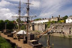 Charlestown Poldark Filming Locations, Bbc Poldark, Free Maps, Cornwall, Sailing Ships, Surfing, Wildlife, Boat, Places