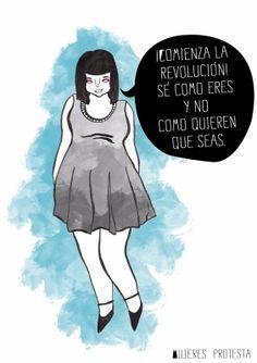 Mujeres protesta - El Insomnio de Allegra: Revolución de la belleza