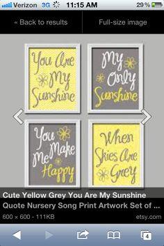 You are my sunshine wall art for nursery