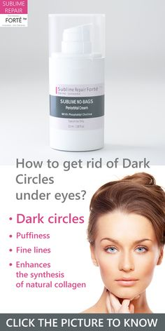 How to Get Rid of Dark Circles Under Eyes. Dark circles, Puffiness, Fine lines, enhance the synthesis of natural collagen, stimulate the capillaries functions and cell regeneration, phosphatidyle choline more at: http://www.sublimerepair.com/shopping/en/eye-contour/1-sublime-no-bags-periorbital-cream.html