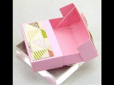 Stampin Up UK Secret Closure Gift Treat Soap Box - YouTube