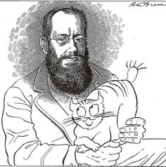 homage to Edward Lear and his cat Foss | by Peter Brookes
