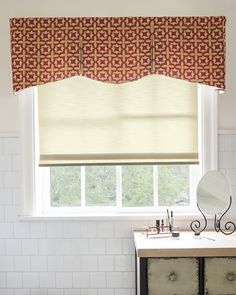 Rod Mounted Valances are a perfect addition to any room. Rod mounted valances are great as a stand alone window treatment or layered over blinds or shades. Valances add a colorful designer's touch to enhance a window's proportions, and can conceal the headrail of an undertreatment. Rod Mounted Valances come with hardware to hang your valance. Starting at $97 Pictured: Smith & Noble Hudson Fabric Valance Iridescent Star/ Rouge 15498 Smith & Noble Classic Roller Shades Summer/ Natural 12673…