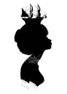 Anchors away. Boat hat | Silhouette illustration by Chairmaine