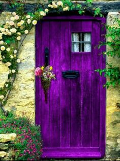 Where do you live? The house with the purple door - can't miss it!