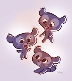Chibis Triplets Cubs from Pixar's Brave  by ary