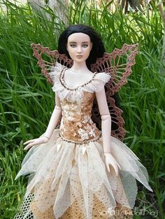 Veronika Faltova's Antoinette: OOAK Antoinette by me in OOAK fairy dress from me and my mom. #fashion #dolls #OOAK