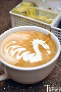 Come into Jaho Boston and you might get lucky enough to find a dragon, or swan, in your next latte!