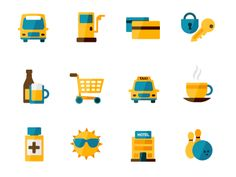 Flat icon set by Kristof Dedene
