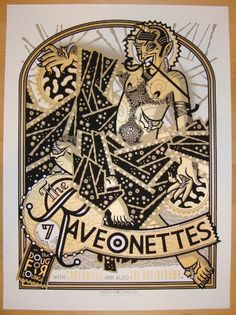 2009 The Raveonettes - Silkscreen Concert Poster by Guy Burwell