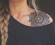 mandala lotus.   Shoulder cover up