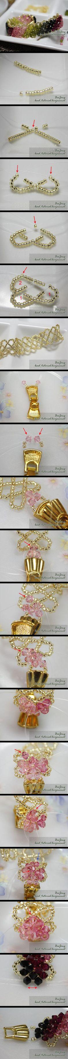 wide beaded bracelet making, i