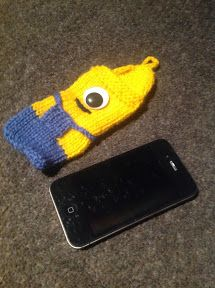 "At Home with the Lunchbox Guru: ""Despicable Me"" iPhone Cozy - Knitting Pattern"