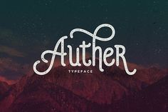 Auther Typeface by Seniors on @creativemarket